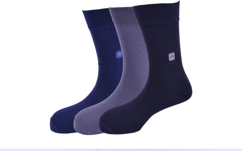Arrow Mens Solid Crew Length Socks(Pack of 3)