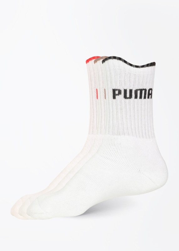Puma Men's Solid Crew Length Socks(Pack of 3)