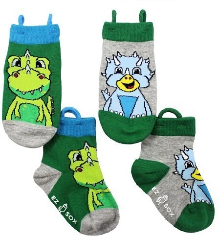 NeedyBee Girls Graphic Print Quarter Length Socks(Pack of 4)