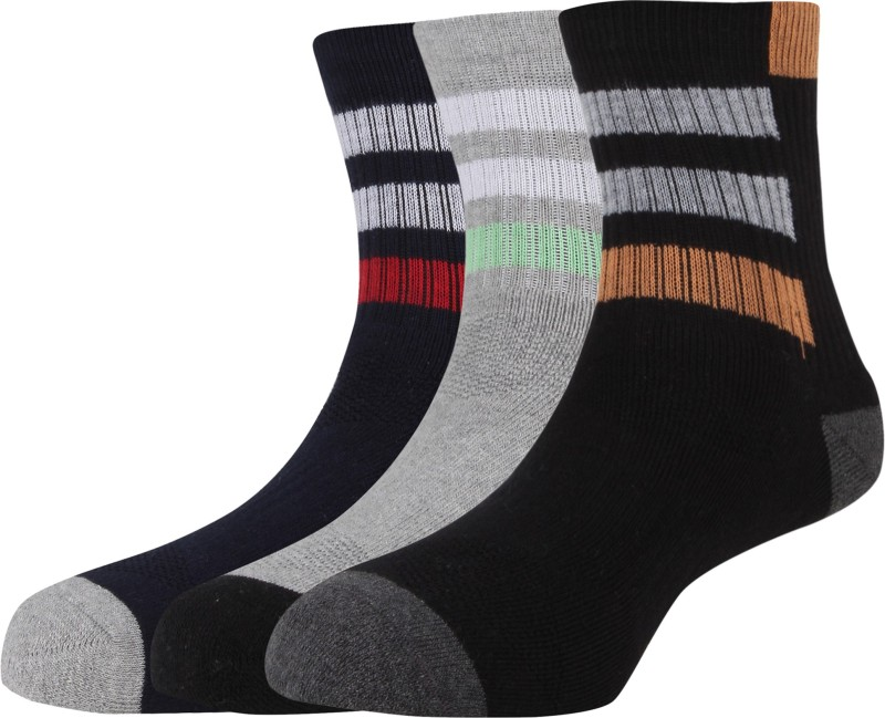 Hush Puppies Mens Striped Ankle Length Socks