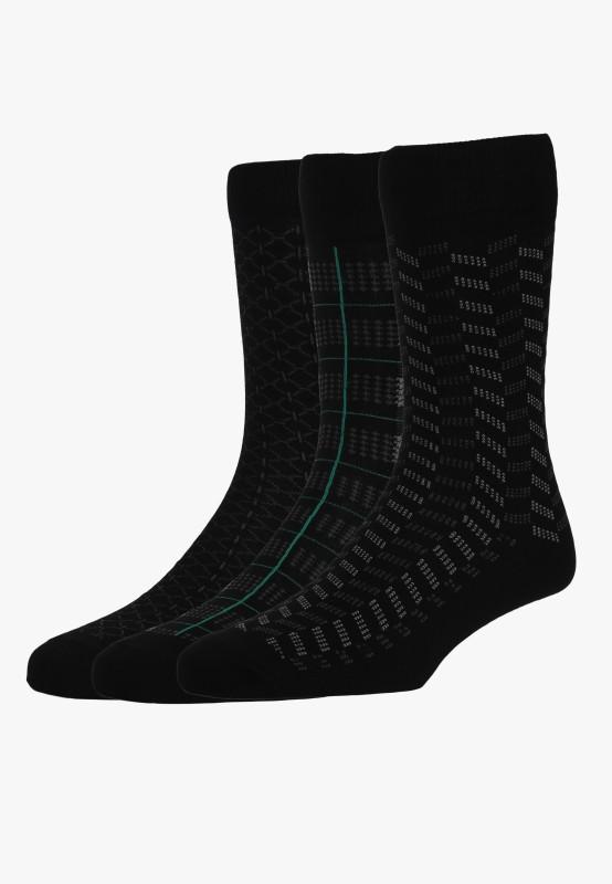 Van Heusen Mens Self Design Mid-calf Length Socks
