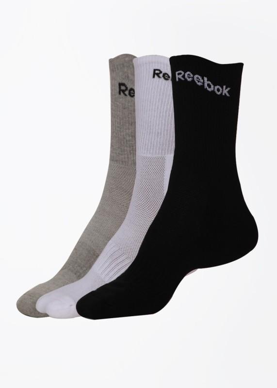 Reebok Mens Self Design Crew Length Socks(Pack of 3)