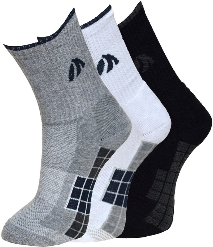 Vinenzia Mens Graphic Print Crew Length Socks(Pack of 3)