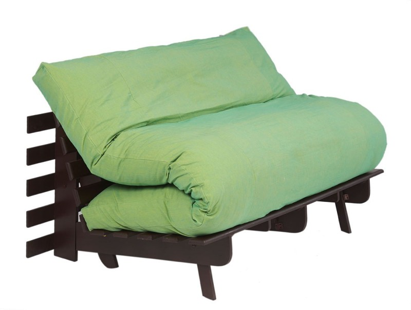 ARRA Single Fabric Futon(Finish Color - Fluorscent Green Mechanism Type - Fold Out)