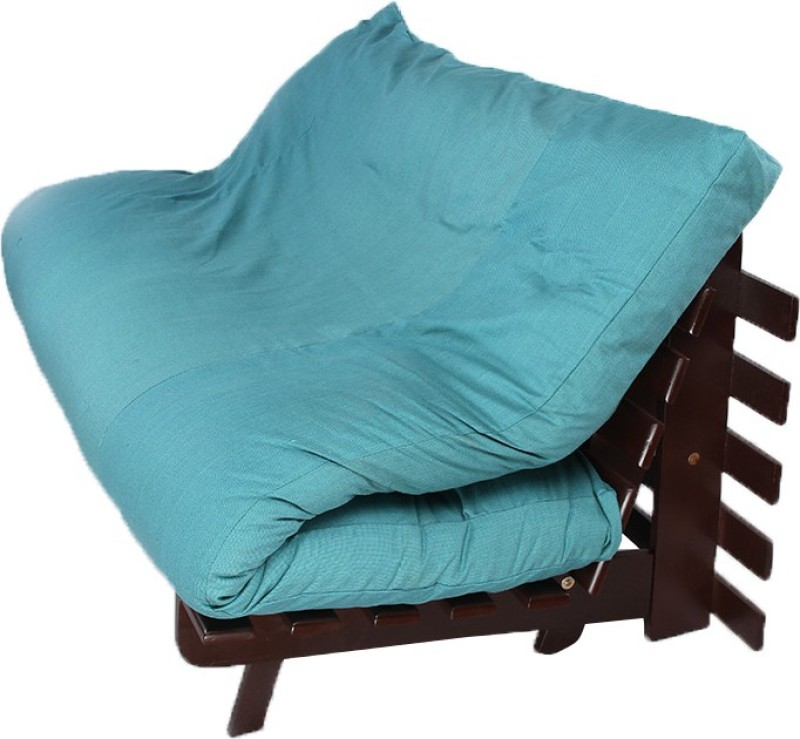 ARRA Single Fabric Futon(Finish Color - Blue Mechanism Type - Fold Out)