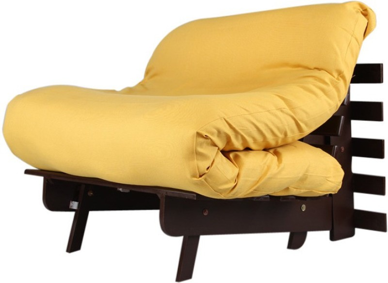 ARRA Single Fabric Futon(Finish Color - Yellow Mechanism Type - Fold Out)