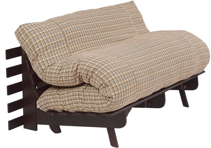 ARRA Single Fabric Futon(Finish Color - Brown Check Mechanism Type - Fold Out)