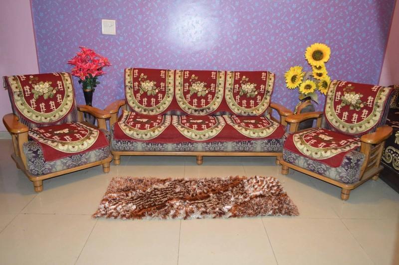 SHIV KIRPA SC032 SC032 Sofa Fabric(Multicolor 1.7 m)