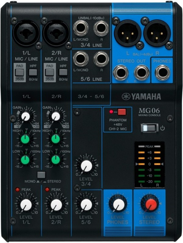 Yamaha MG06 Analog Sound Mixer