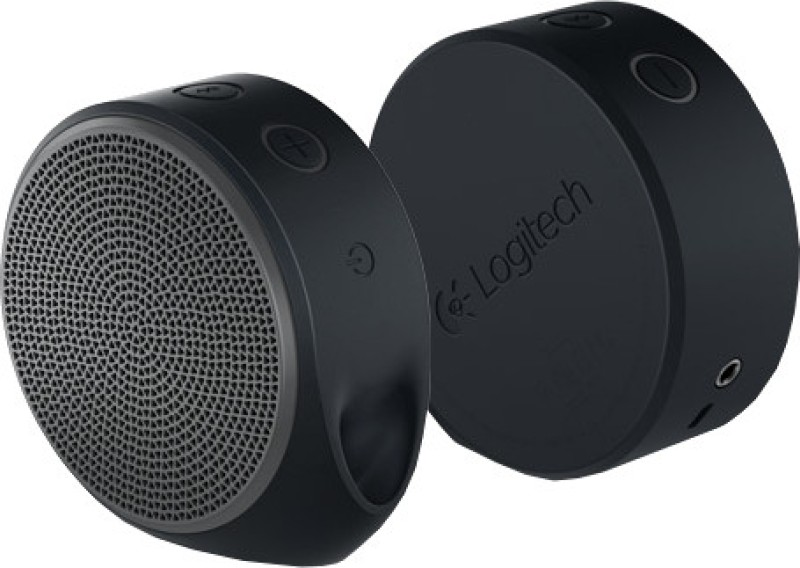 Logitech X100 Portable Bluetooth Laptop/Desktop Speaker(Black & Grey, 2.0 Channel)