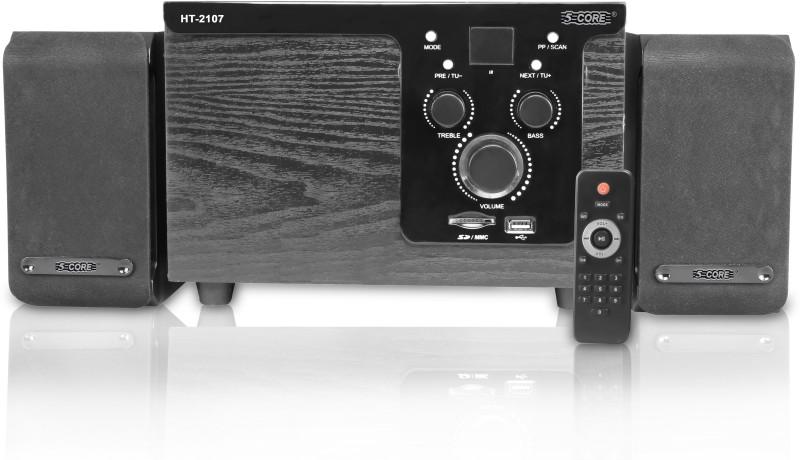 5 Core MULTIMEDIA SPK 21-07 FOR COMPUTER Home Audio Speaker(Black, 2.1 Channel)