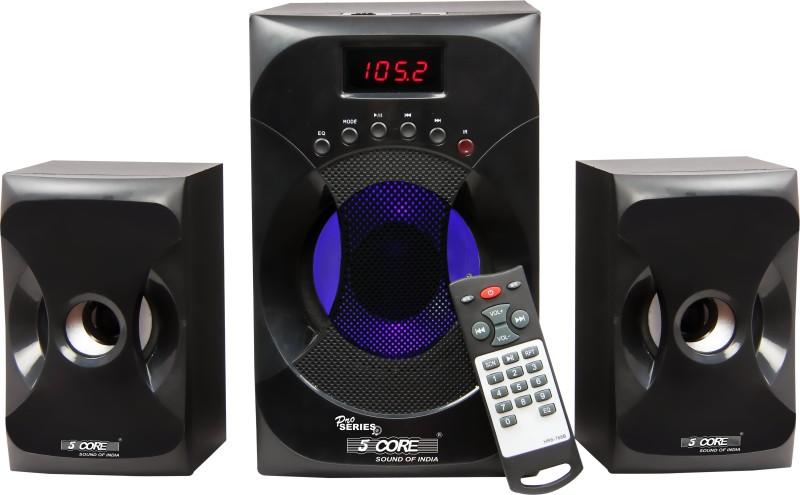 5 Core Multimedia SPK 2117 For Computer Home Audio Speaker(Black, 2.1 Channel)