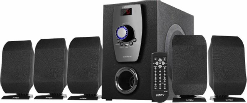 Intex IT-650 FMU BT 70 W Portable Bluetooth Home Theatre(Black, 5.1 Channel)