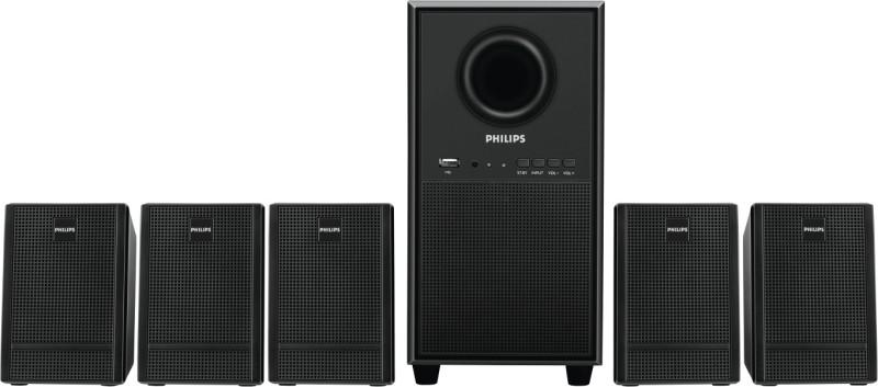 Philips SPA3000U/94 28 W Home Audio Speaker(Black, 5.1 Channel)