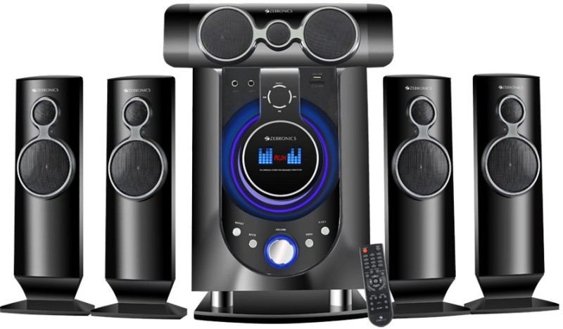 Zebronics Whale-BT RUCF Bluetooth Home Theatre(Black, 5.1 Channel)