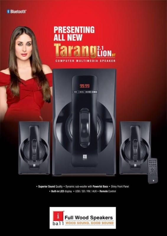 Iball Tarang Lion BT 2.1 40 W Portable Bluetooth Home Audio Speaker(Black, 2.1 Channel)
