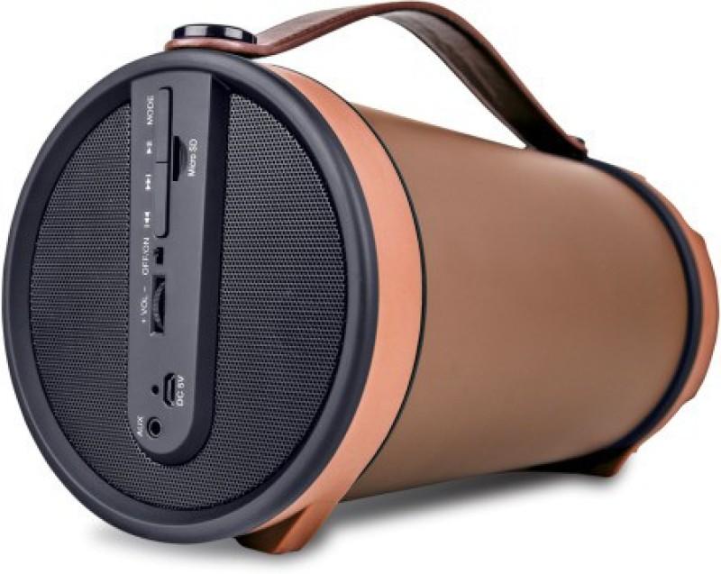 Iball Music Barrel BT31 With FM Radio 9 W Portable Bluetooth Speaker(Brown, Mono Channel)