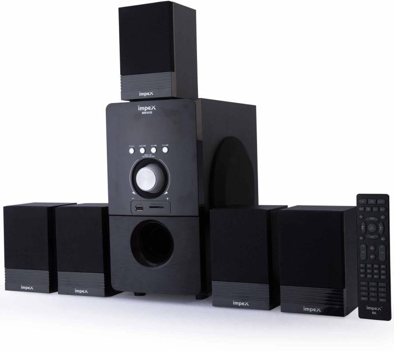 Impex Multimedia 5.1 (BRAVO) Bluetooth Home Audio Speaker(Black, 5.1 Channel)