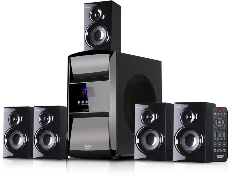 Truvison SE-6045 Multimedia System USB SD FM Playback Support Feature Superior Sound Clarity Home Theatre(Black, 5.1 Channel)