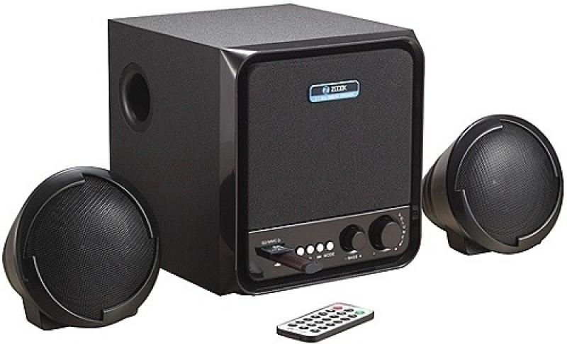 Zoook 2.1 Speakers ZM-SP3300 (FM/SD/USB) 10 W Portable Laptop/Desktop Speaker(Black, 2.1 Channel) image