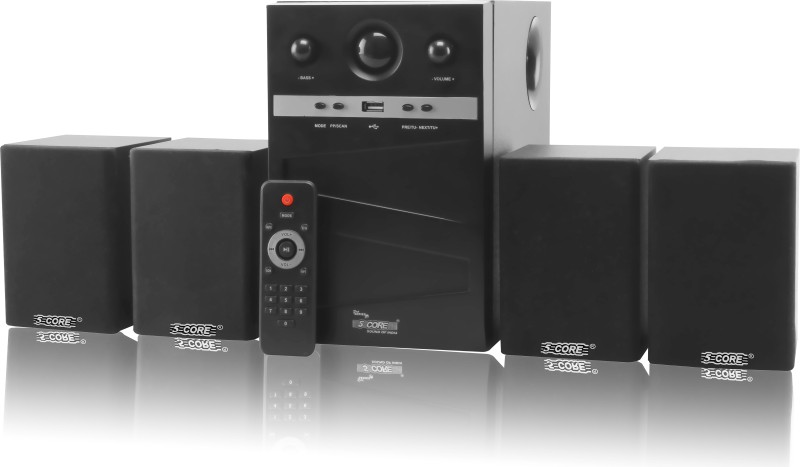 5 Core Multimedia SPK 4106 For Computer Laptop/Desktop Speaker(Black, 4.1 Channel)