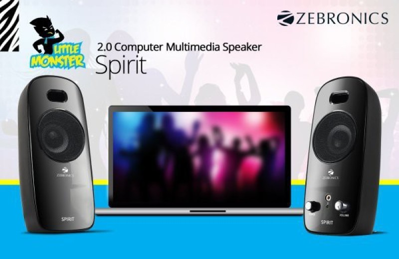 Zebronics Spirit Laptop/Desktop Speaker(Black, 2.0 Channel)