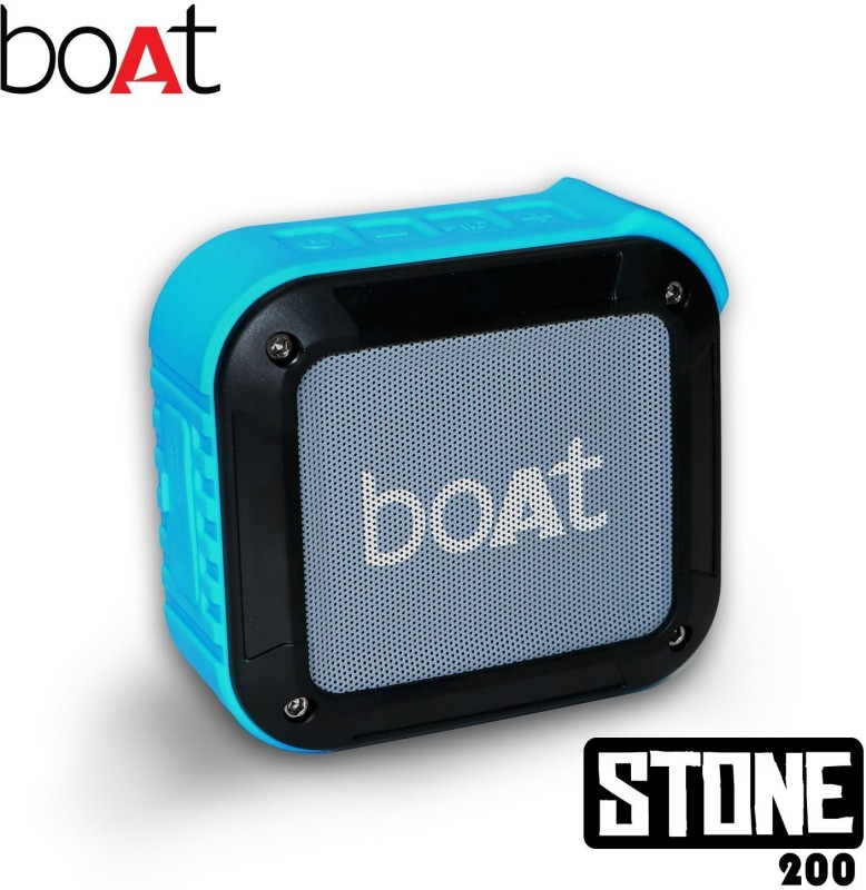 boAt Stone 200 Water Proof 3 W Portable Bluetooth Speaker(Blue, Mono Channel)