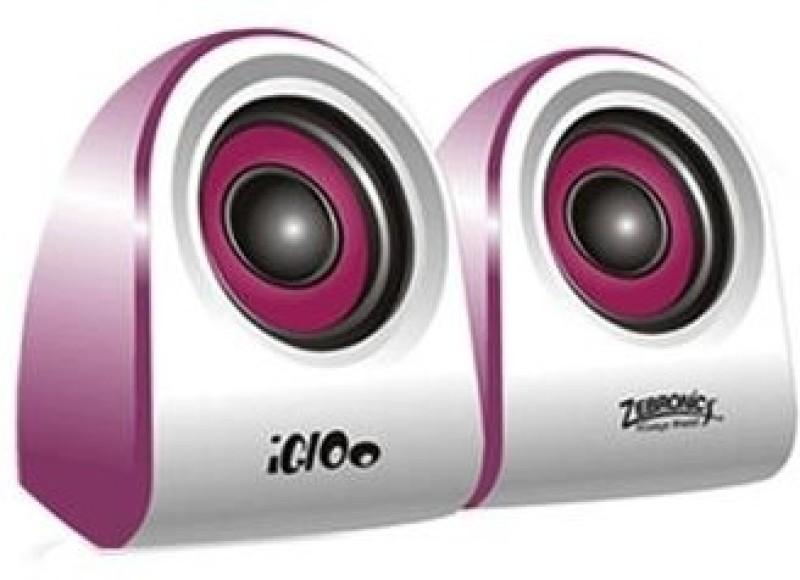 Zebronics Igloo 2.0 5 W Portable Laptop/Desktop Speaker(Purple, 2.0 Channel) image