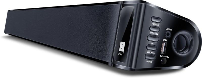 Iball Soundbar BT-10 40 W Bluetooth Soundbar(Black, Stereo Channel) image