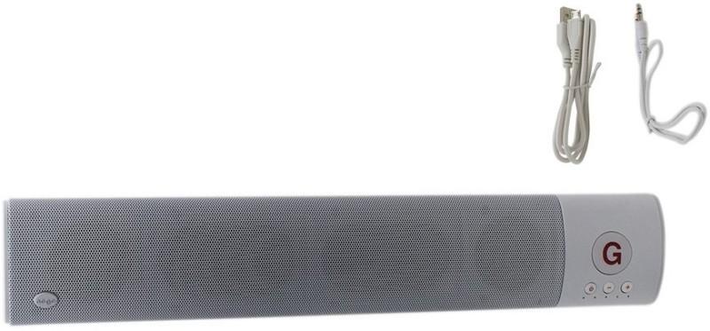 HashTag Glam 4 Gadgets Bluetooth Sound Bar With MIC, USB, TF Card 1520 10 W Portable Bluetooth Soundbar(White, 2.1 Channel) image