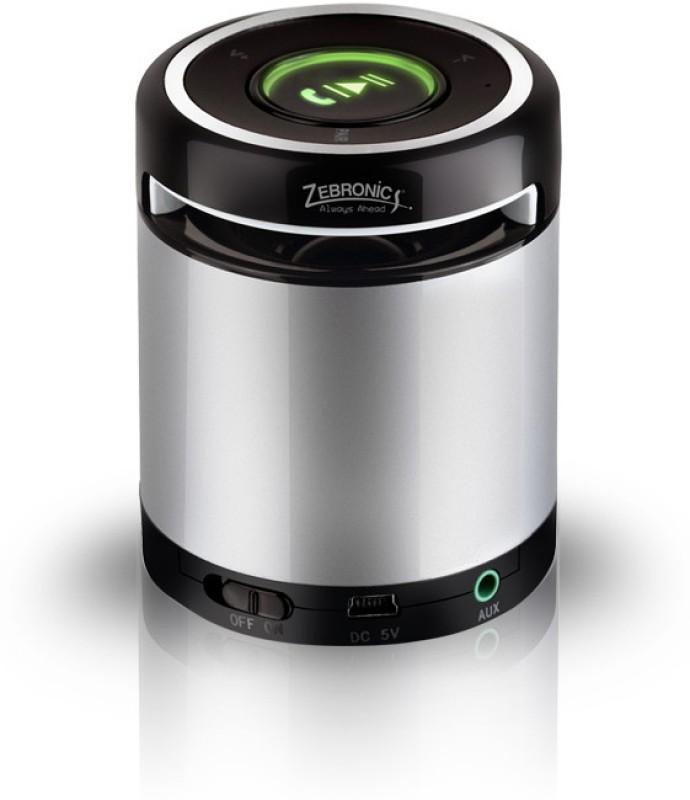 Zebronics Bluetooth BT012 Roll 3 W Bluetooth  Speaker(Silver, Mono Channel) image