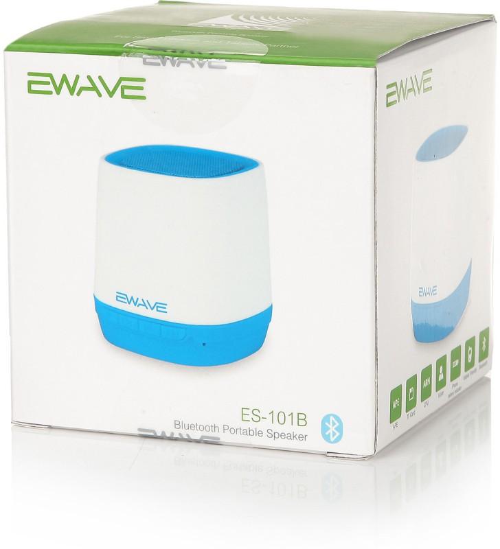 Ewave ES101B 5 W Portable Bluetooth  Speaker(White & Blue, Mono Channel) image