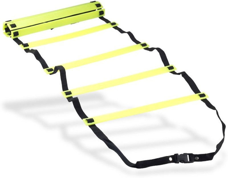 Sahni Sports Agility 4 Mtr Flat Adjustable Speed Ladder(Yellow, Black)