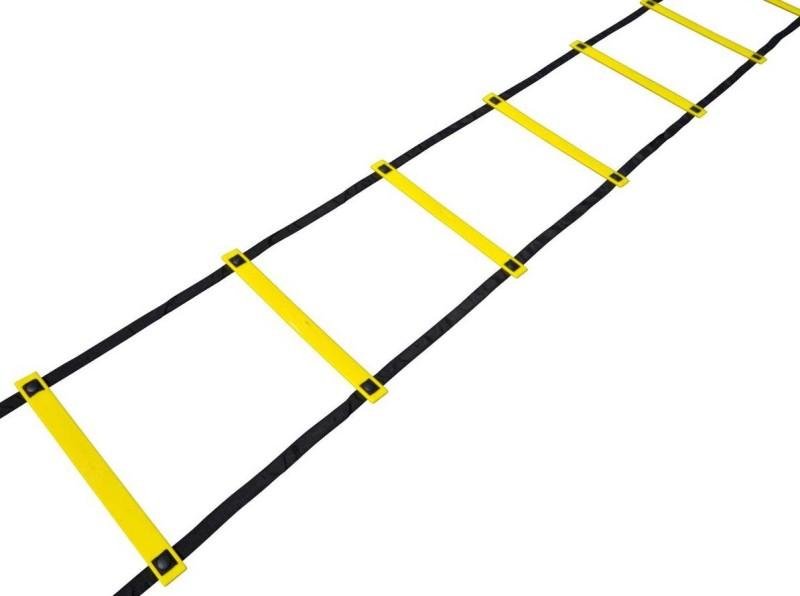 Sahni Sports Agility 4 Mtr Flat Fixed Speed Ladder(Yellow, Black)