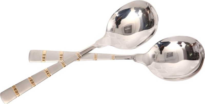 Mullich Castle Gold Stainless Steel Serving Spoon Set(Pack of 2)