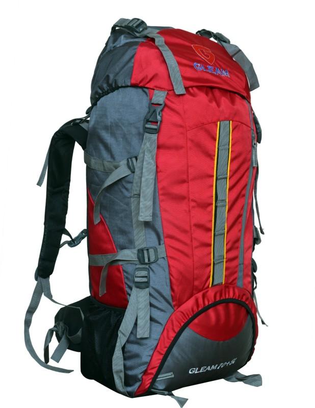 Gleam Mountain Trekking & Hiking 75 Ltrs Backpack(Red, Backpack)