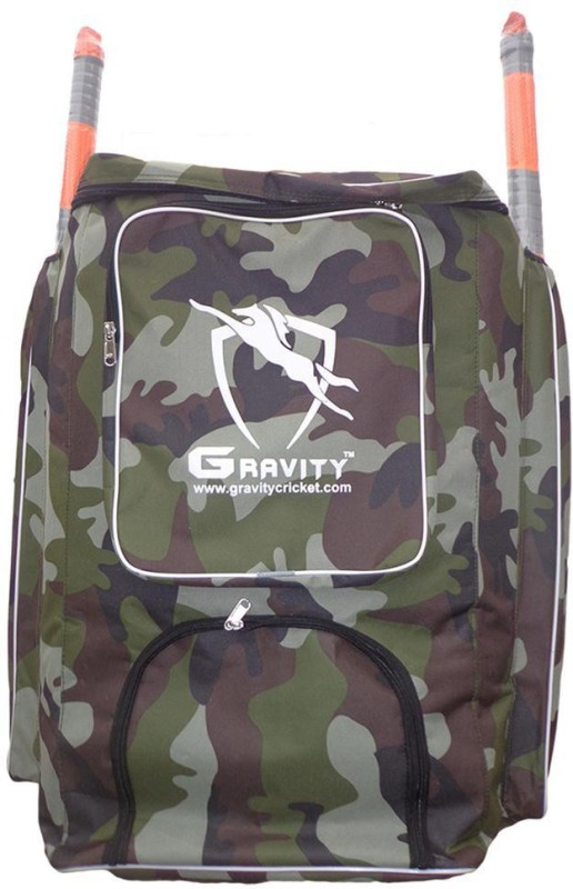 Gravity CAMO Cricket Kit Bag(Green, Backpack)