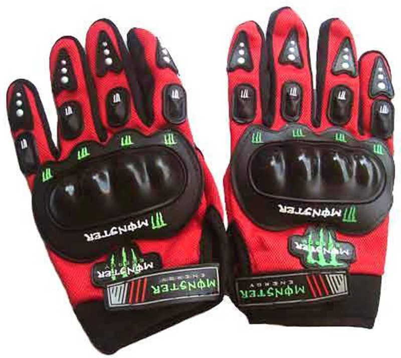 Monster Upbeat Driving Gloves (L, Red)
