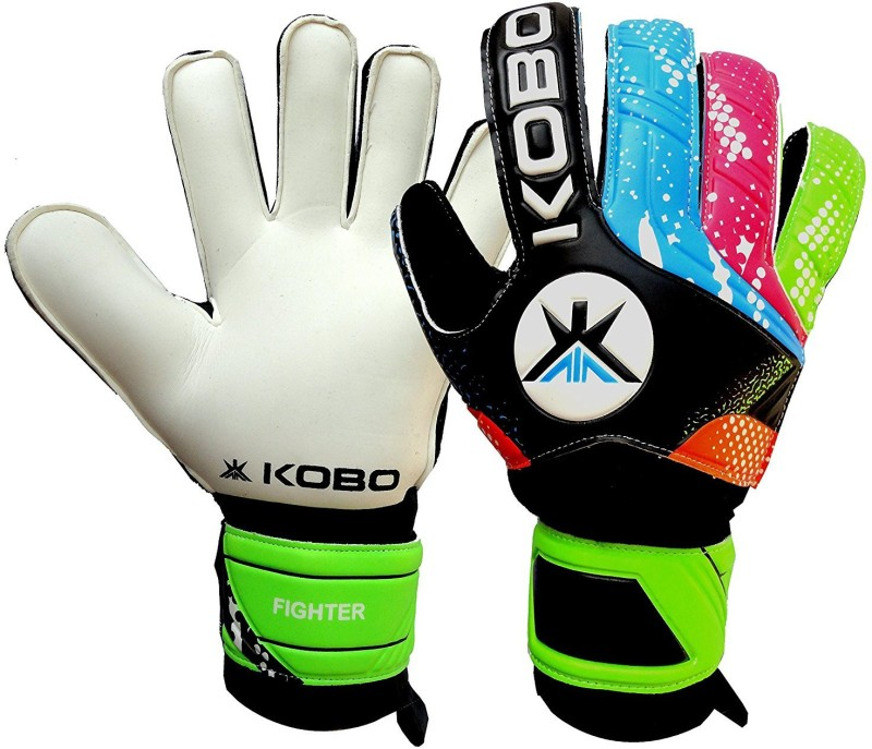 Kobo Fighter Football Gloves Goalkeeping Gloves (S, Black)
