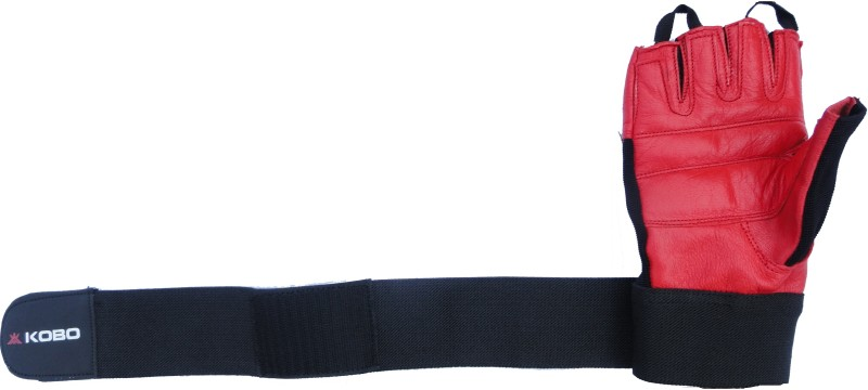 Kobo Weight Lifting (Imported) SG11 Gym & Fitness Gloves (M, Red)