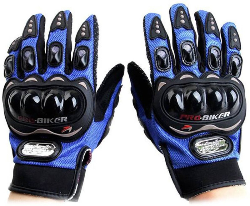 AVB Pro Biker Full Sports Driving Gloves(Blue)