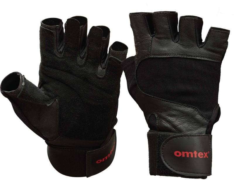 Omtex Pro Gym & Fitness Gloves (M, Black)