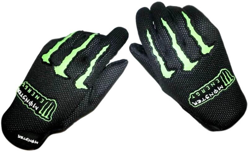 Monster Biker Riding Gloves (L, Green)