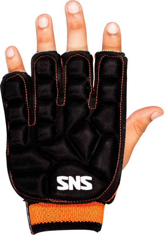 SNS PROTECT Hockey Gloves (M, Black, Orange)