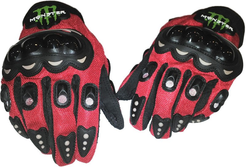 Monster Glove Riding Gloves (L, Red, Black)
