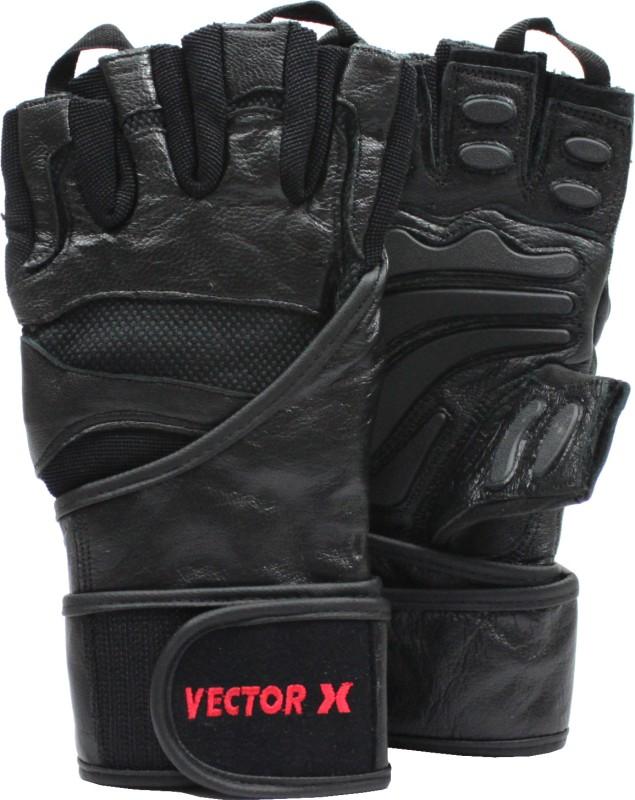 Vector X VX-2100 Gym & Fitness Gloves (L, Black)