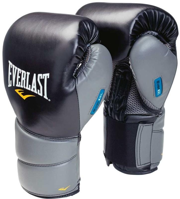 Everlast Protex Gel Boxing Gloves (M, Black, Grey)