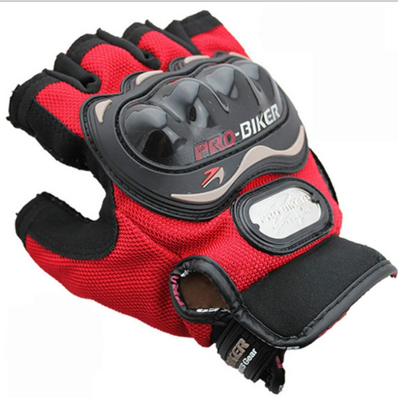 Probiker Bike Racing Motorcycle Half Riding Gloves Red Color Riding...