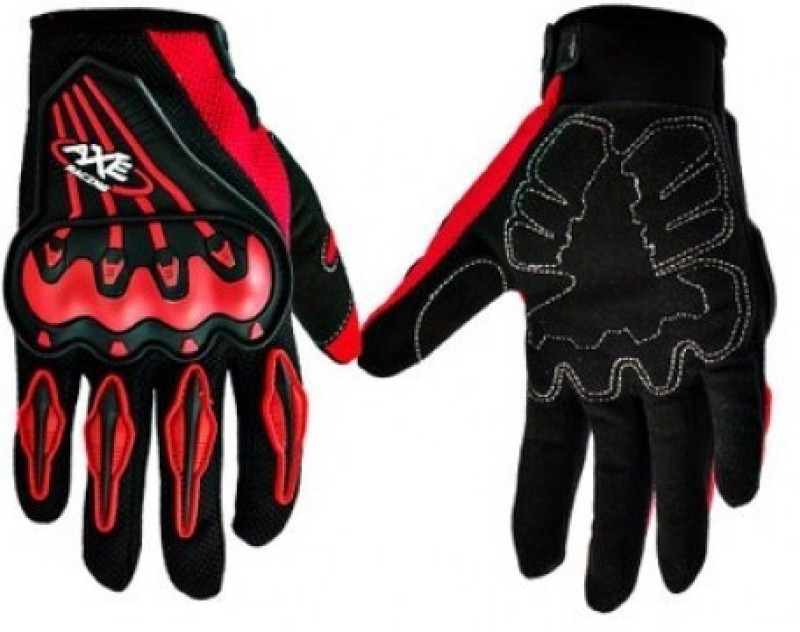 ACCESSOREEZ AXE Riding Gloves (Free Size, Red, Black)