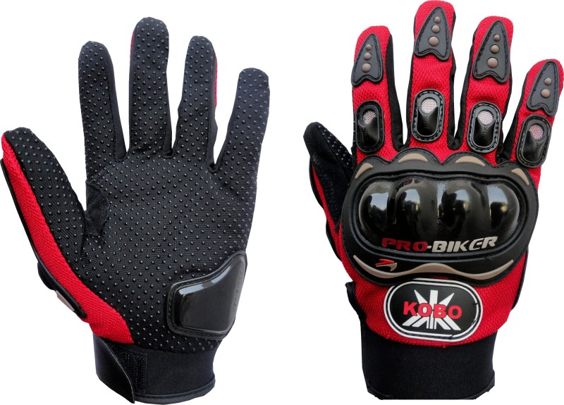 Probiker Full Finger Cycling Gloves (L, Red)